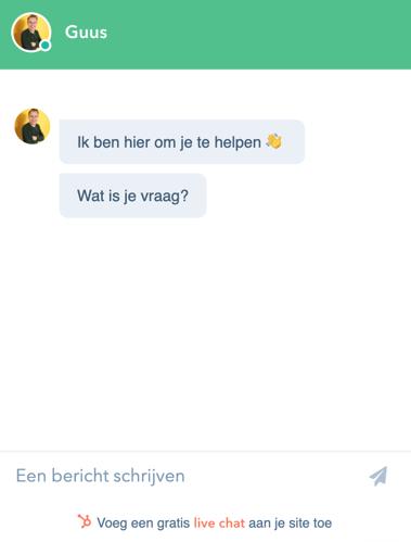 HubSpot live chat | Inbnd